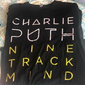 Charlie Puth Concert T-Shirt 2016 nine track mind